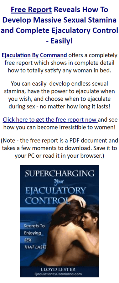 Excellent phrase ejaculation free sex premature better cure topic